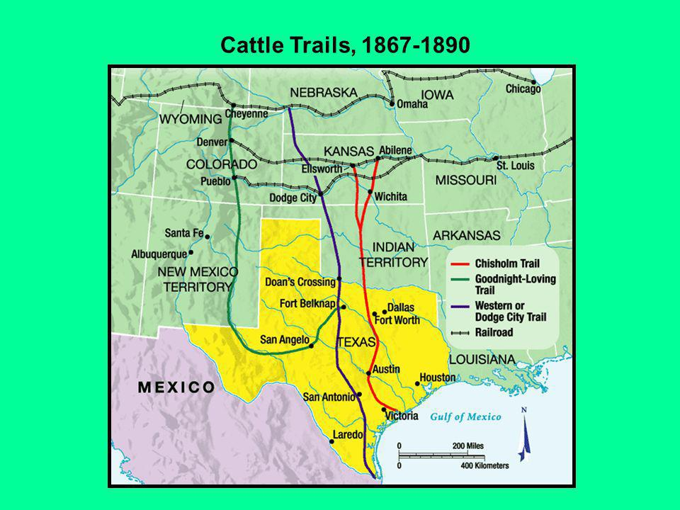 Cattle Trails, 1867-1890