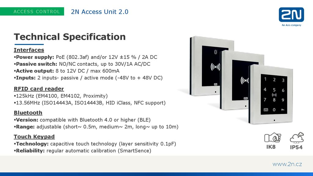 2N Access Unit 2 0 Multi-technology access control readers  - ppt