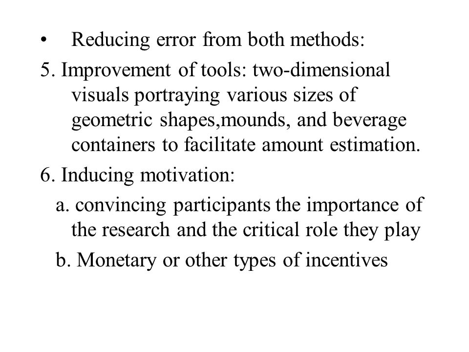 Reducing error from both methods: