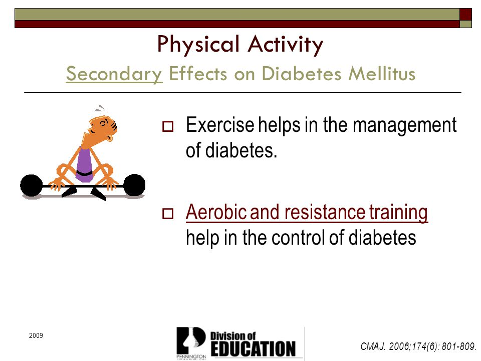 Physical Activity Secondary Effects on Diabetes Mellitus