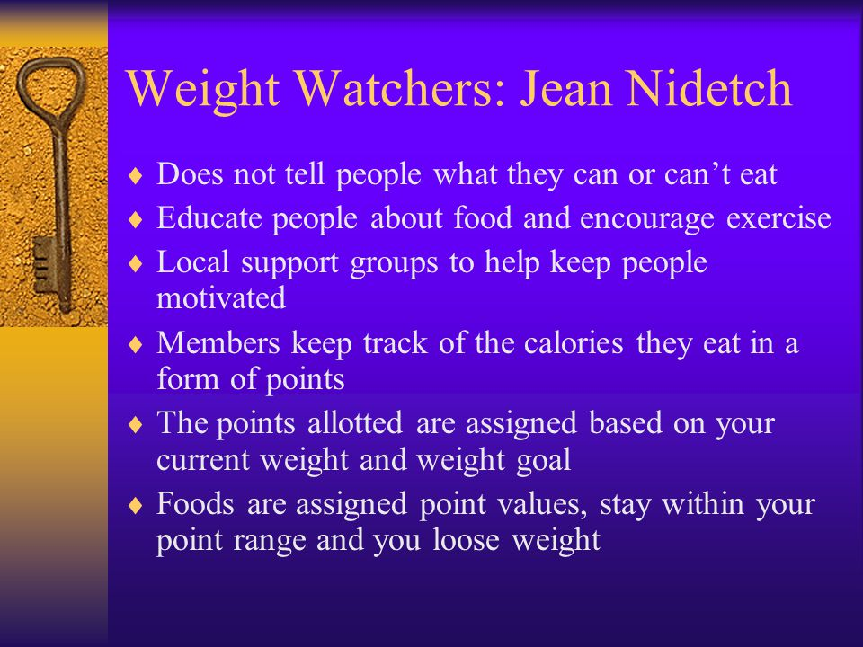 Weight Watchers: Jean Nidetch