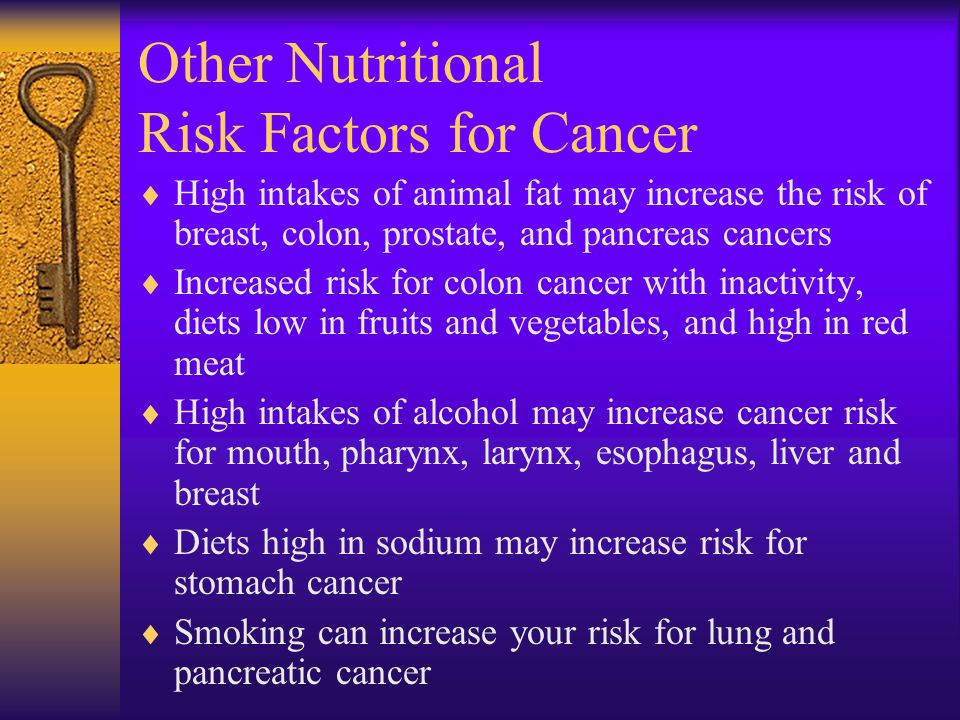 Other Nutritional Risk Factors for Cancer
