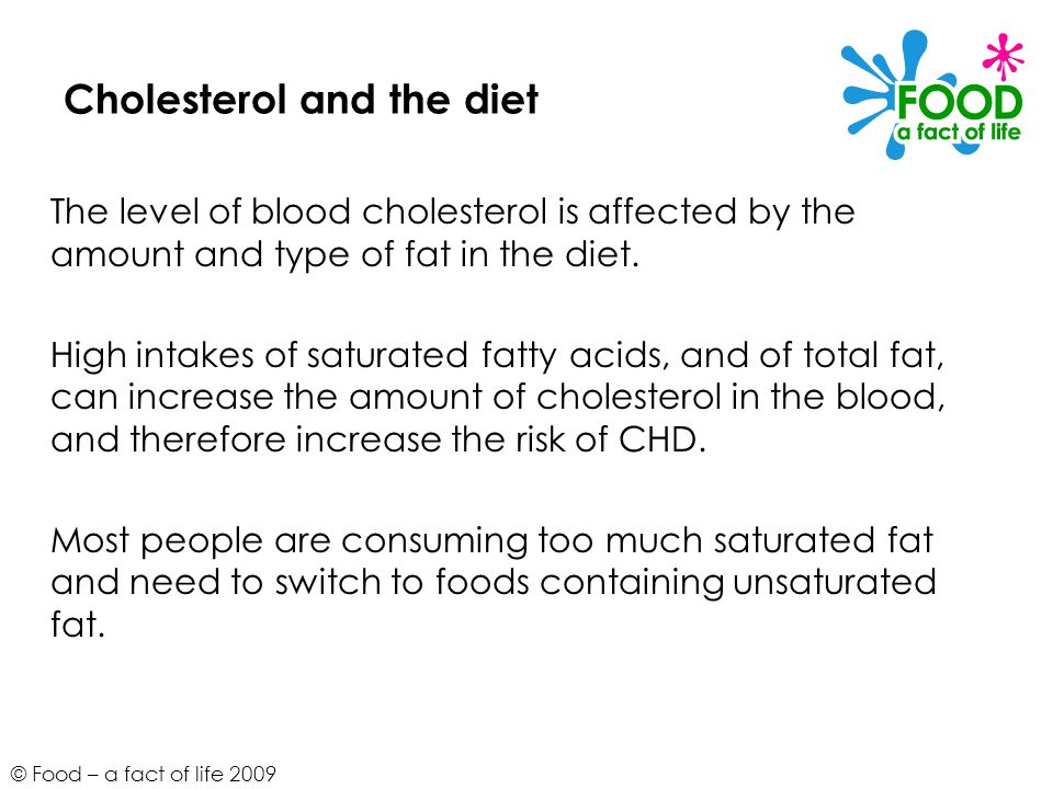 Cholesterol and the diet