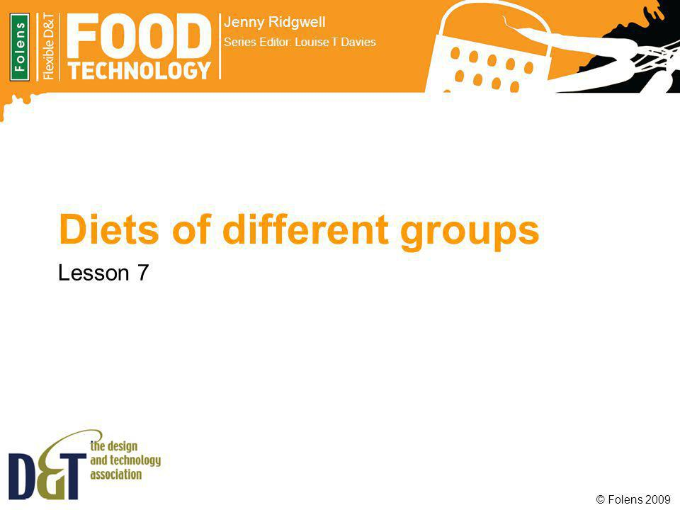 Diets of different groups