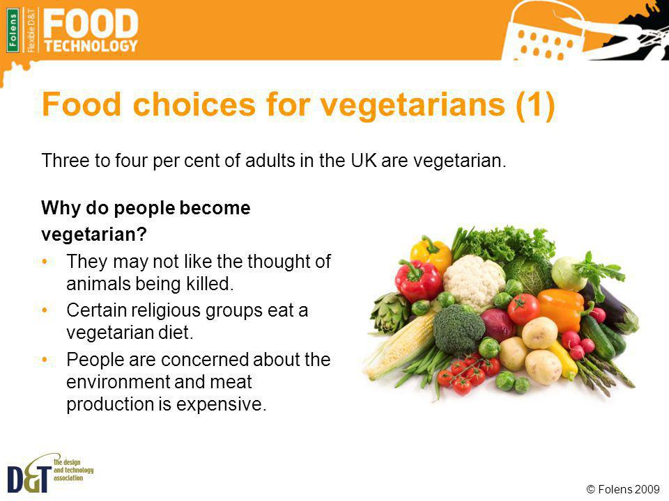 Food choices for vegetarians (1)