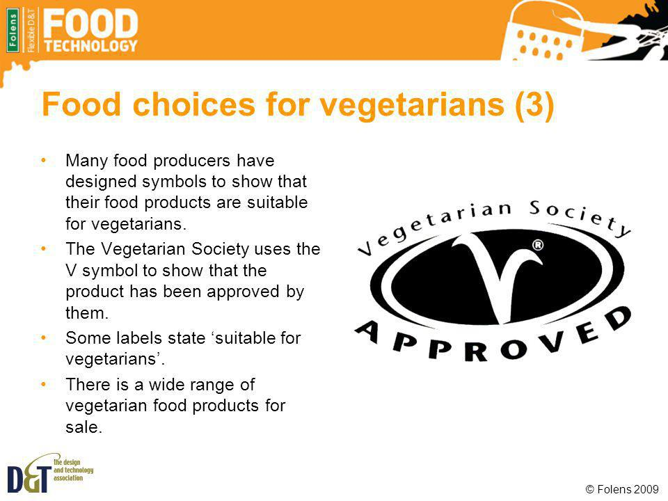 Food choices for vegetarians (3)