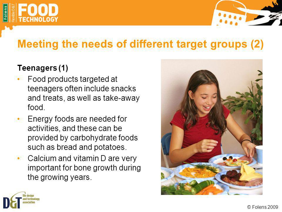 Meeting the needs of different target groups (2)