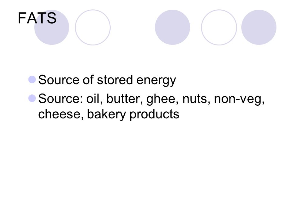 FATS Source of stored energy