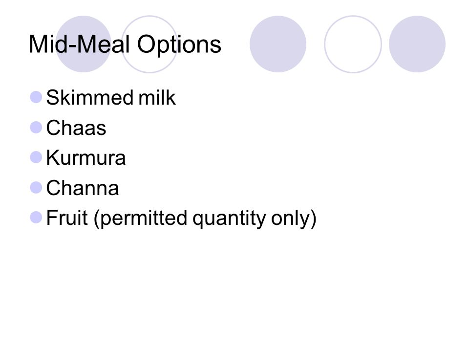 Mid-Meal Options Skimmed milk Chaas Kurmura Channa