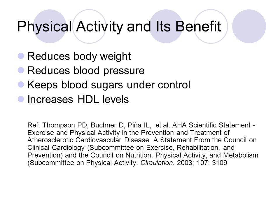 Physical Activity and Its Benefit