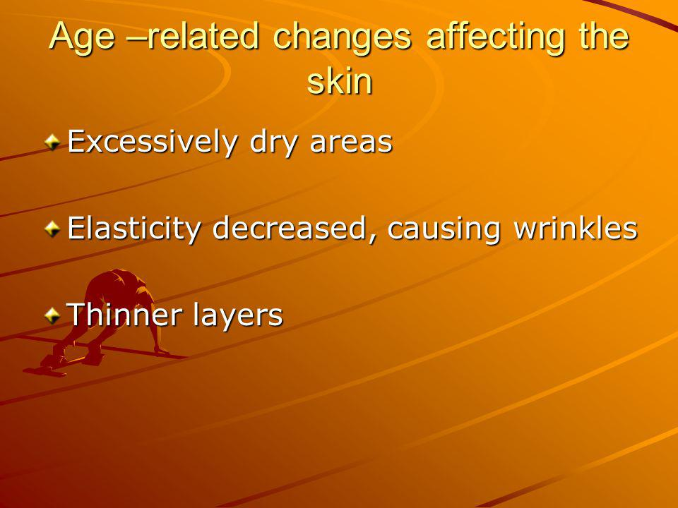 Age –related changes affecting the skin