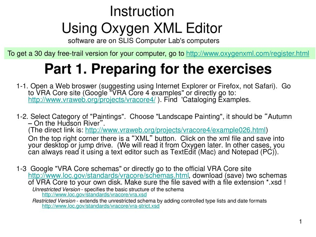 Part 1  Preparing for the exercises - ppt download