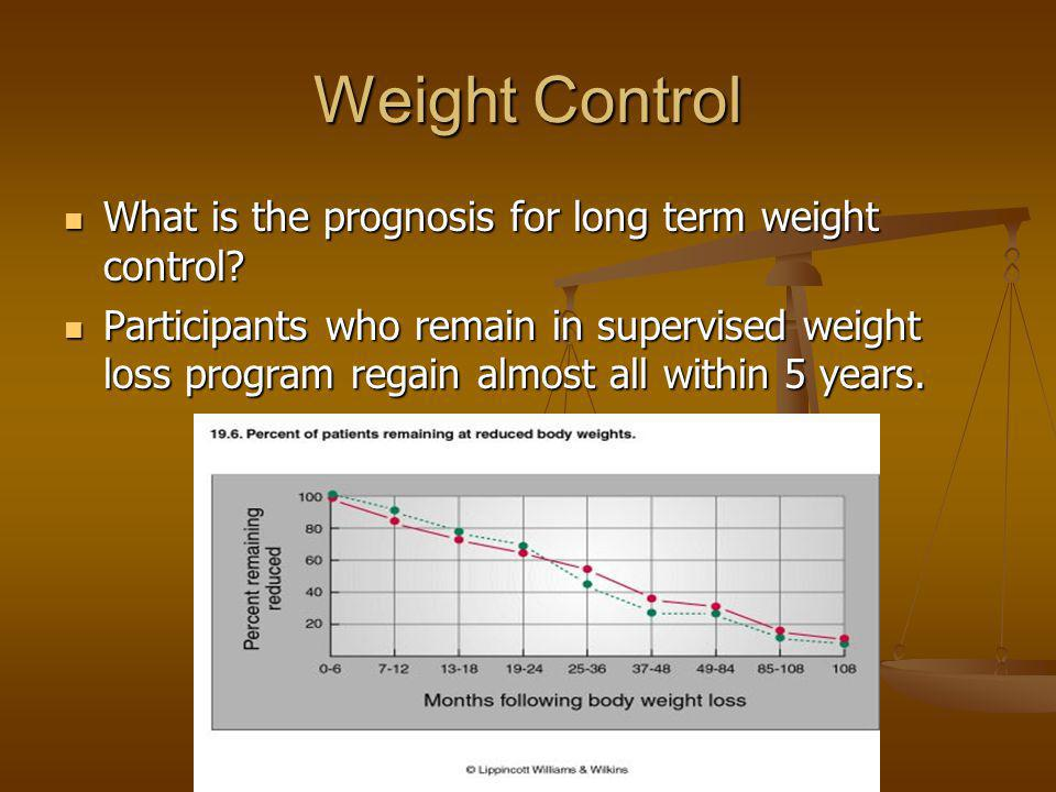 Weight Control What is the prognosis for long term weight control