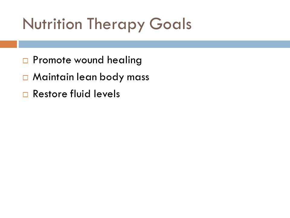 Nutrition Therapy Goals