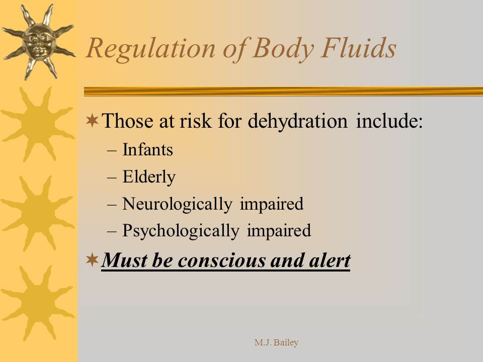 Regulation of Body Fluids