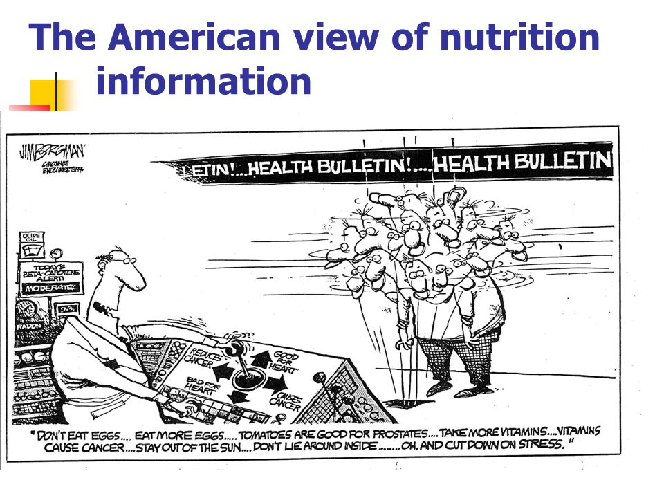 The American view of nutrition information