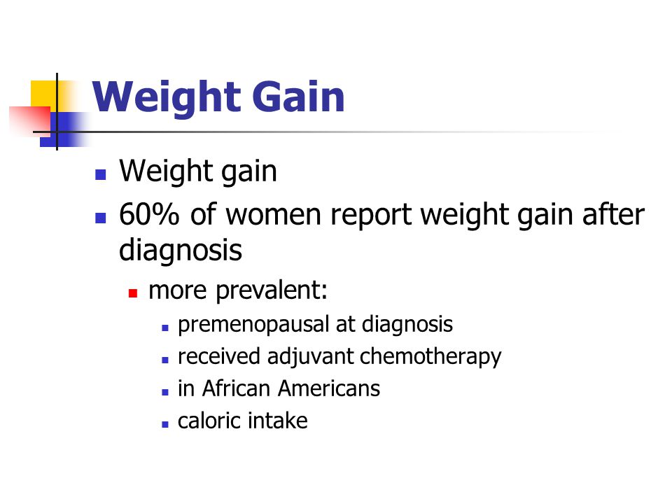 Weight Gain Weight gain