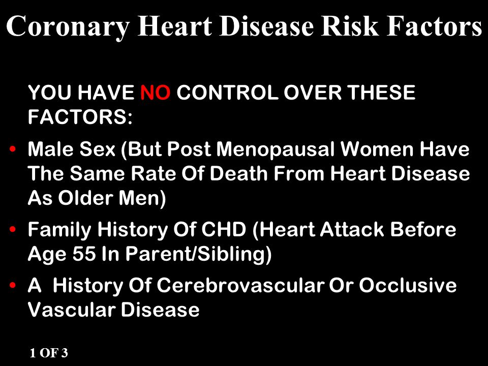 Coronary Heart Disease Risk Factors