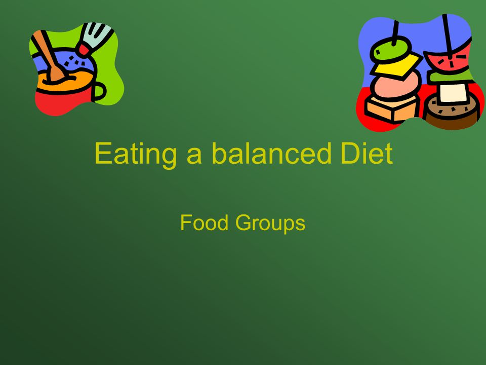 Eating a balanced Diet Food Groups