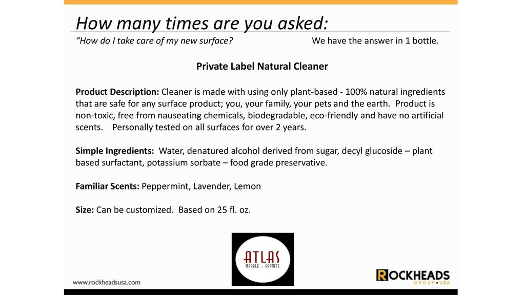 Private Label Natural Cleaner - ppt download