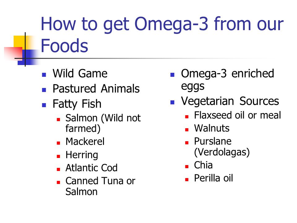 How to get Omega-3 from our Foods