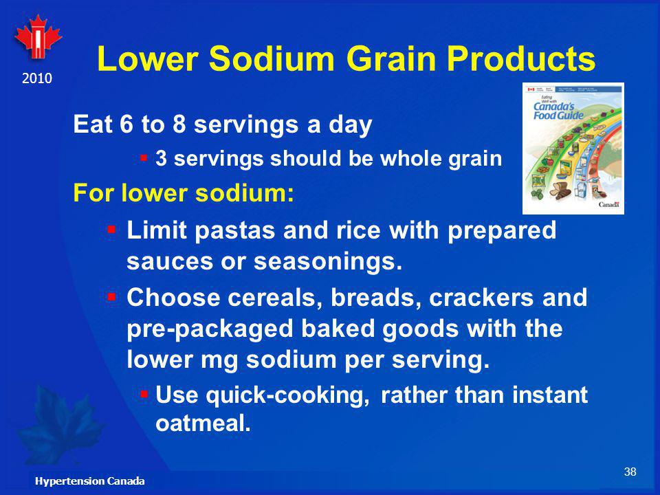 Lower Sodium Grain Products