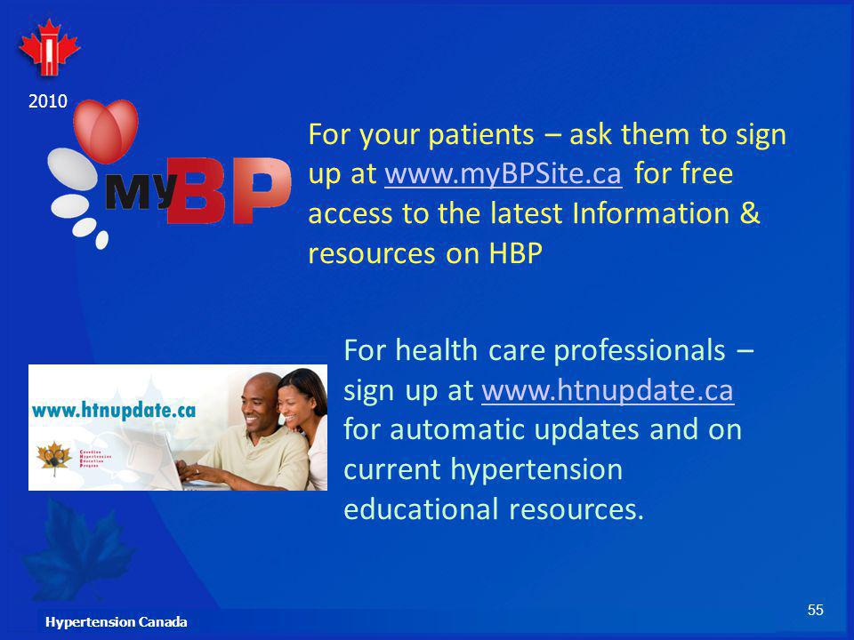 For your patients – ask them to sign up at www. myBPSite