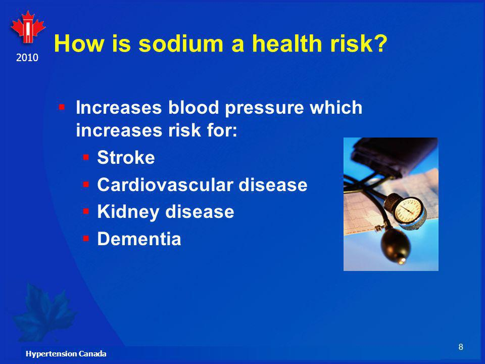 How is sodium a health risk