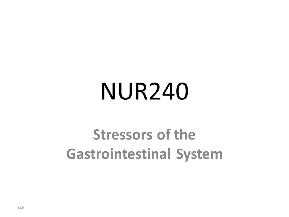 Stressors of the Gastrointestinal System