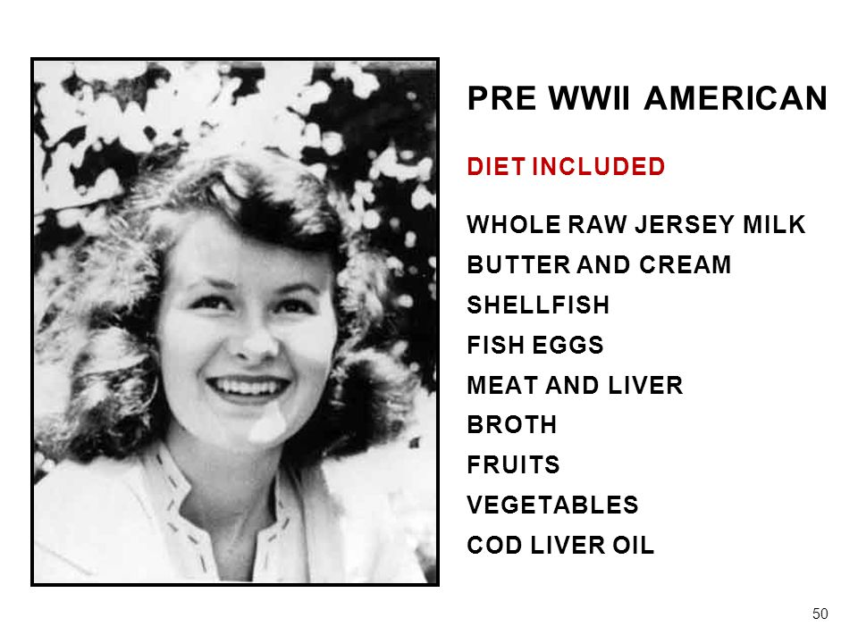 PRE WWII AMERICAN PRE WWII AMERICAN DIET INCLUDED