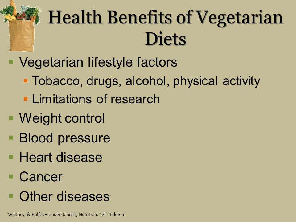 Health Benefits of Vegetarian Diets
