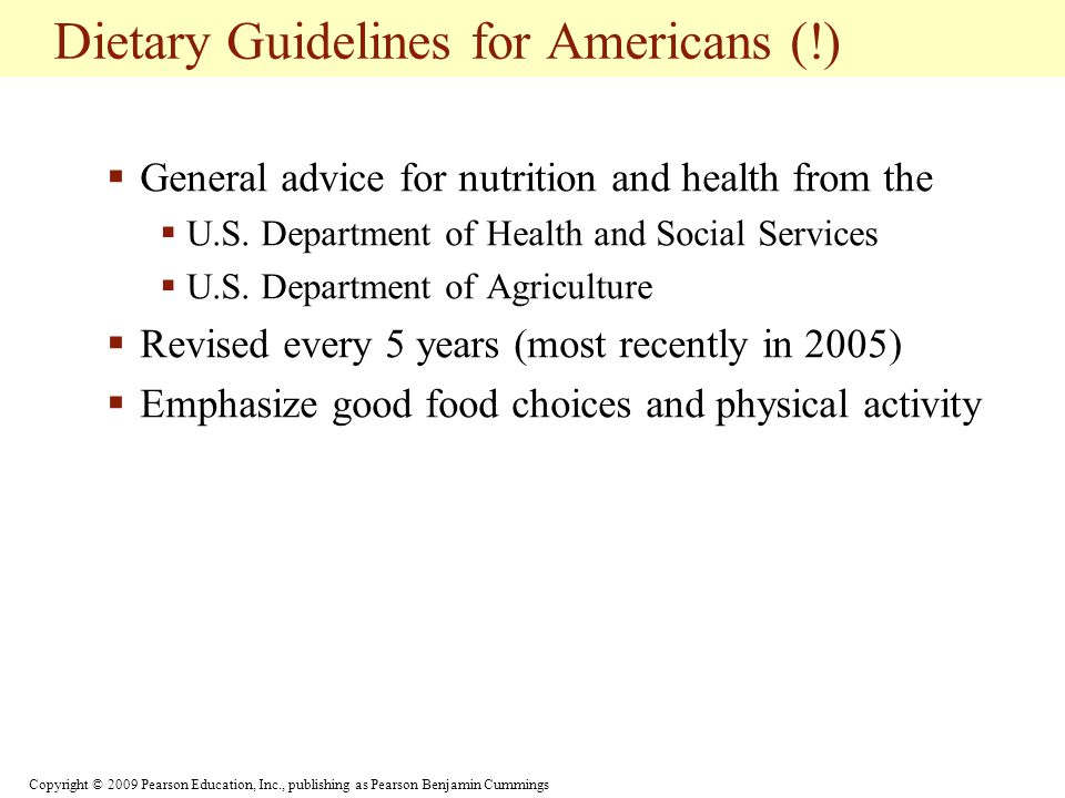 Dietary Guidelines for Americans (!)