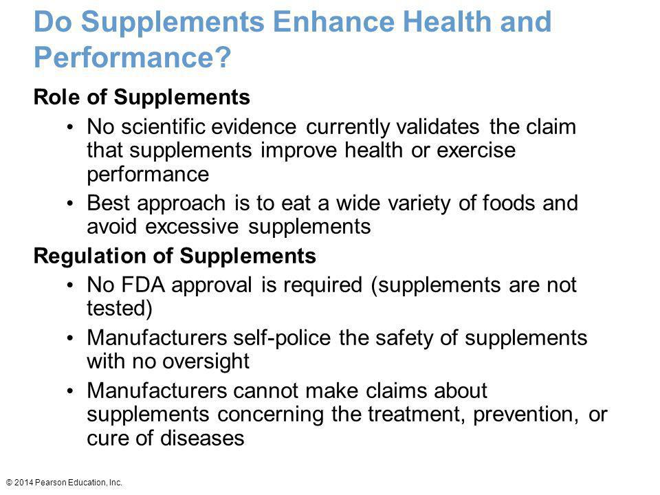 Do Supplements Enhance Health and Performance