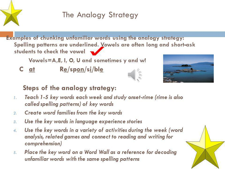 The Analogy Strategy Steps of the analogy strategy: