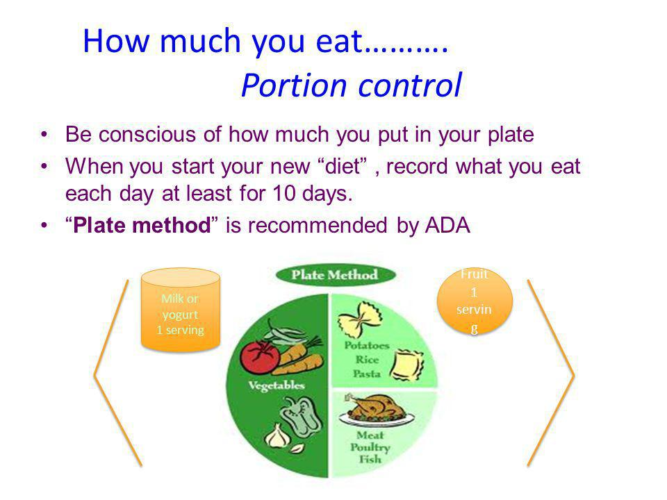 How much you eat………. Portion control
