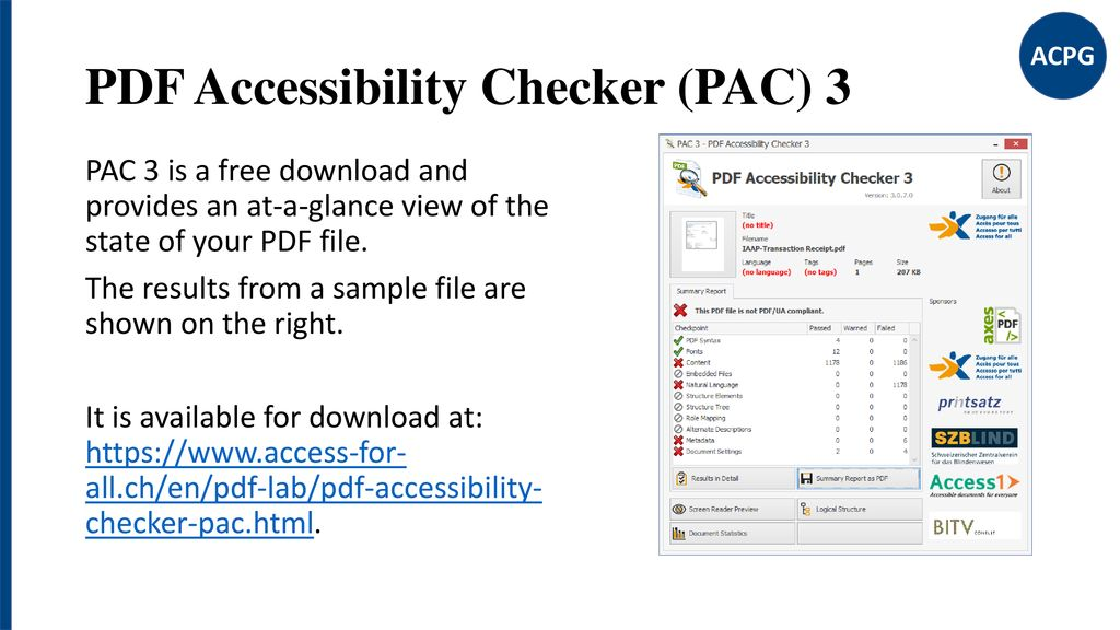 Pac3 Accessibility