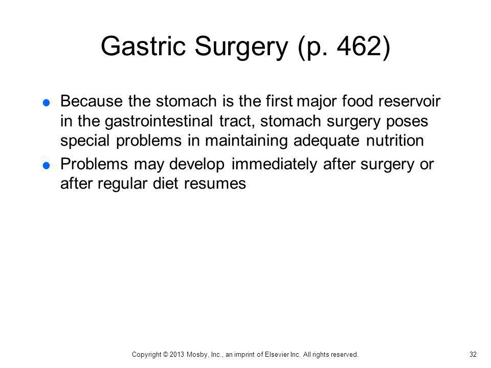 Gastric Surgery (p. 462)