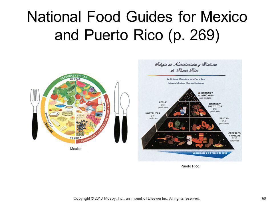 National Food Guides for Mexico and Puerto Rico (p. 269)