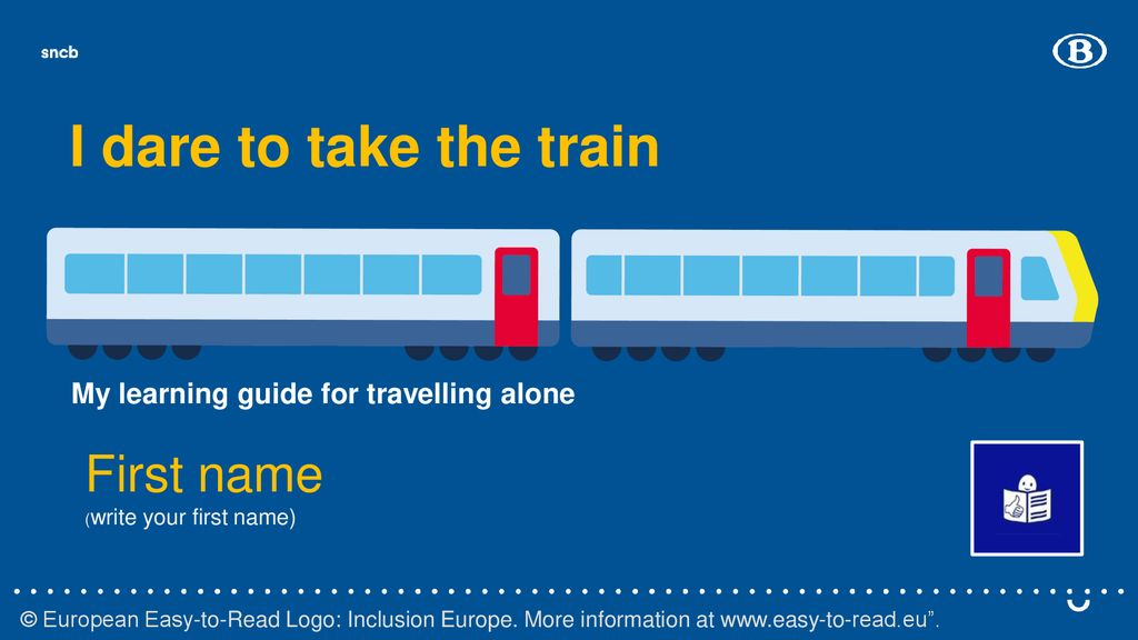 I dare to take the train First name - ppt download