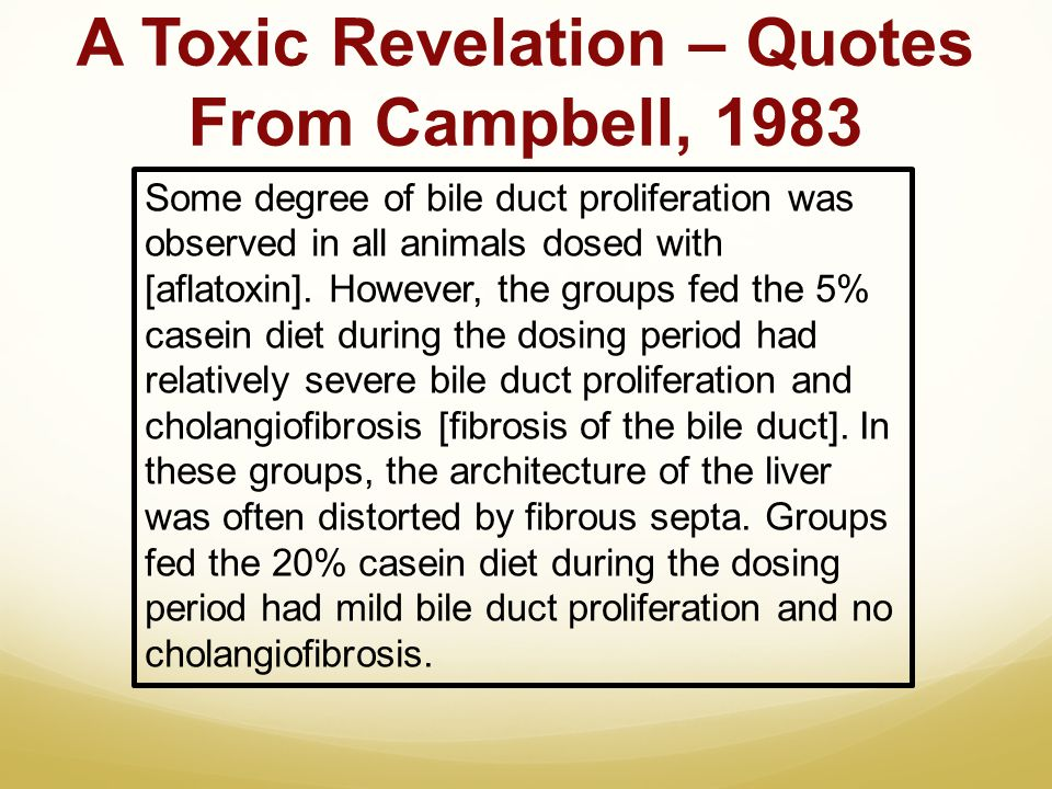 A Toxic Revelation – Quotes From Campbell, 1983