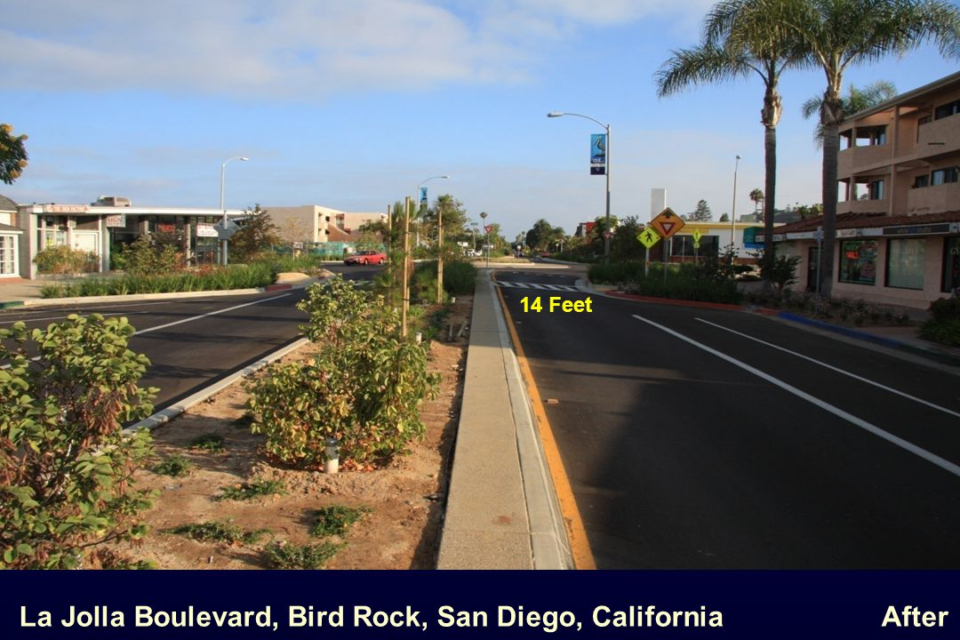 La Jolla Boulevard, Bird Rock, San Diego, California After