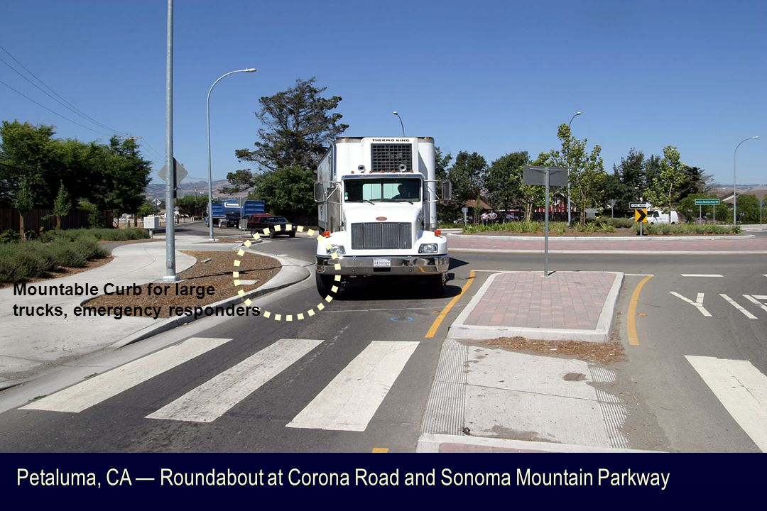 Petaluma, CA — Roundabout at Corona Road and Sonoma Mountain Parkway