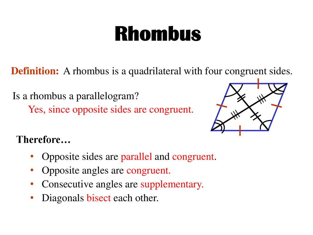 QUADRILATERALS 4-SIDED POLYGONS - ppt download