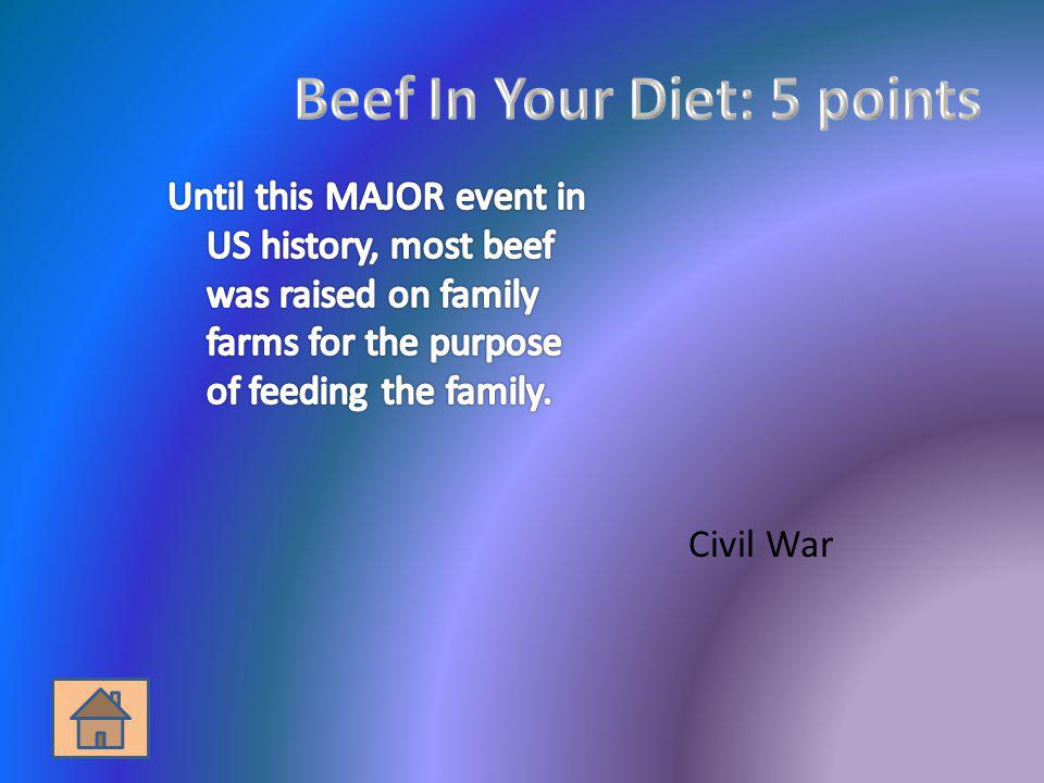 Beef In Your Diet: 5 points