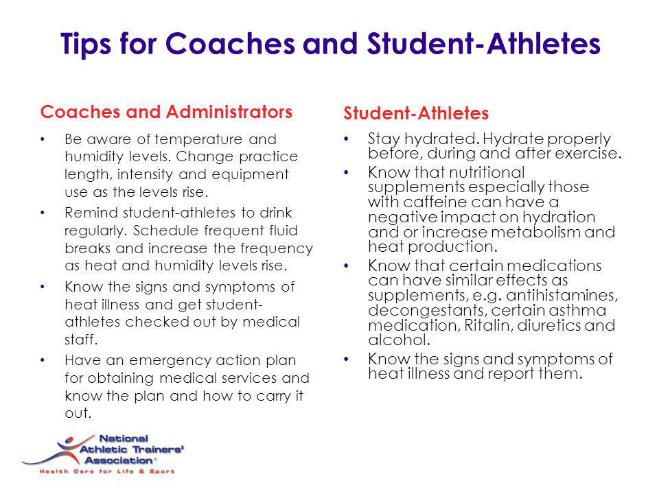 Tips for Coaches and Student-Athletes