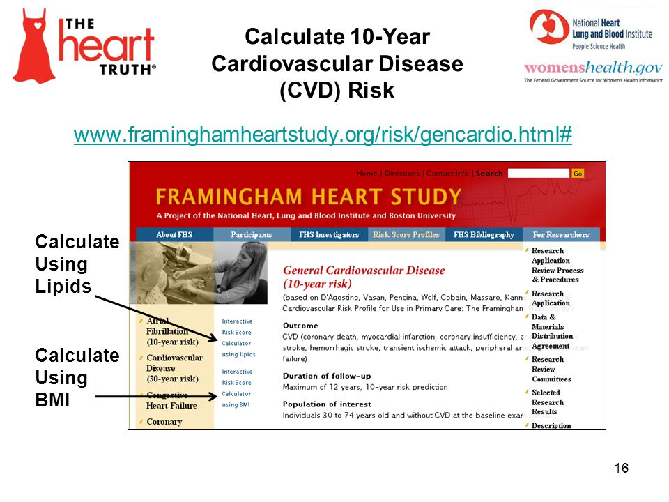 Calculate 10-Year Cardiovascular Disease (CVD) Risk