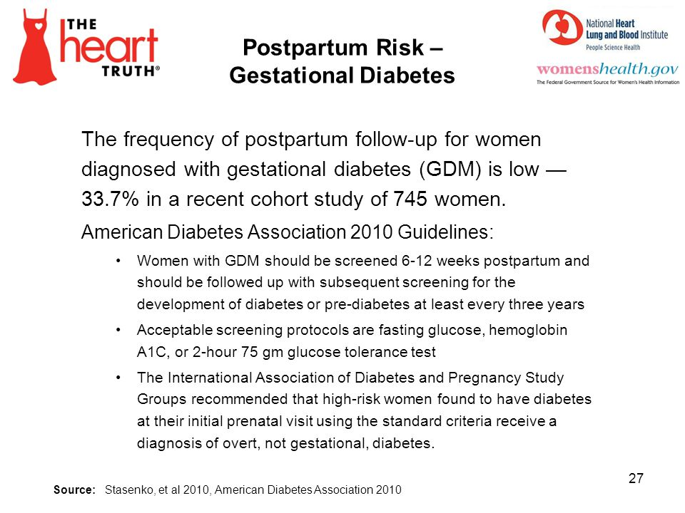 Postpartum Risk – Gestational Diabetes
