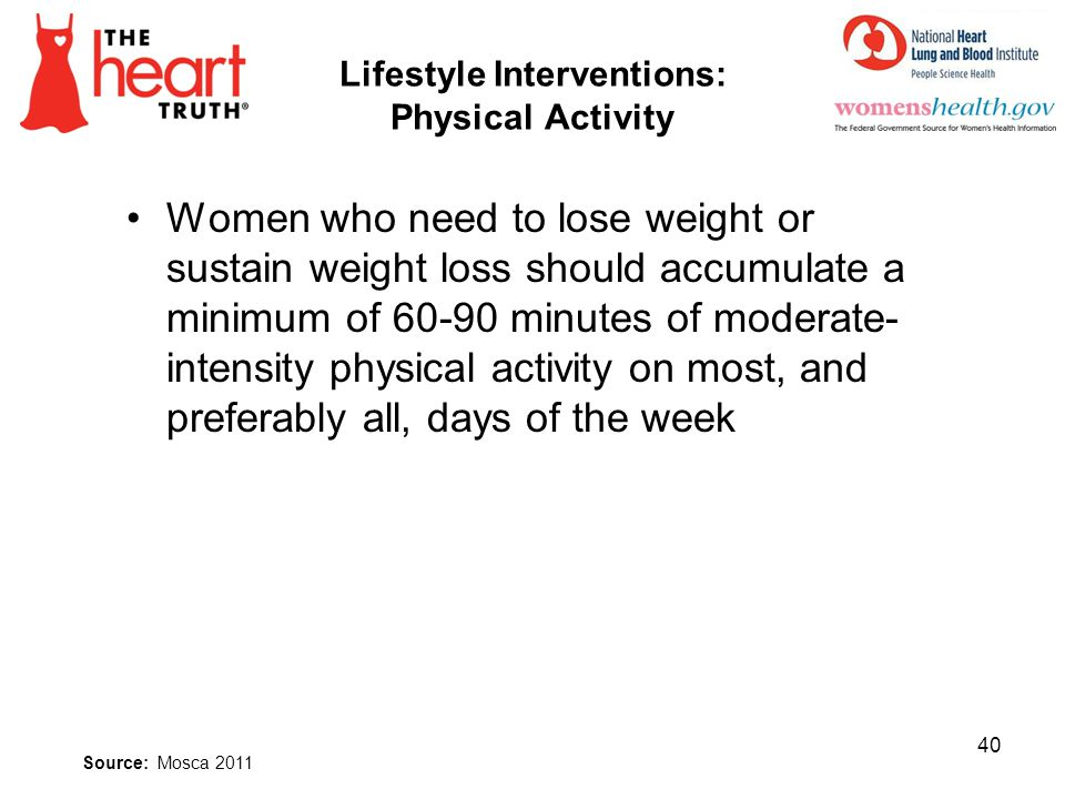 Lifestyle Interventions: Physical Activity