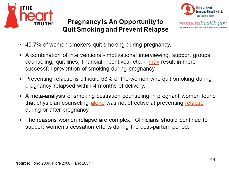 Pregnancy Is An Opportunity to Quit Smoking and Prevent Relapse