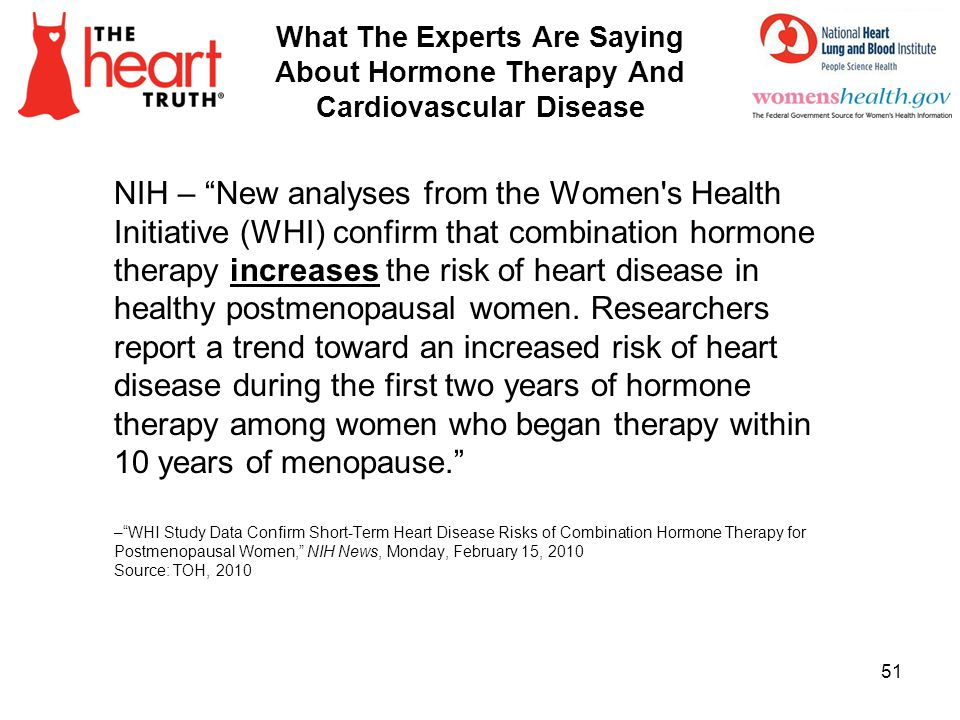 4/1/2017 What The Experts Are Saying About Hormone Therapy And Cardiovascular Disease.